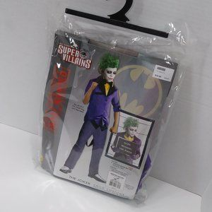 The Joker DC Super Villains Kids Costume + Gloves